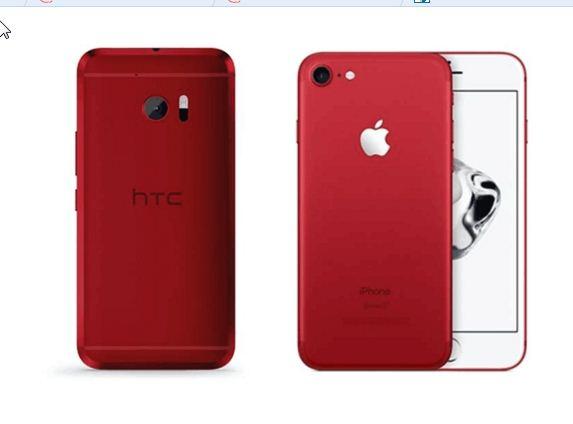 iPhone 7中国红抢先亮相:骚气十足 被指抄袭HTC One  掀起论战!