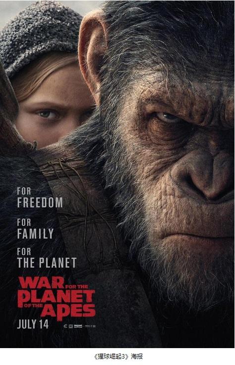 《猩球崛起3》预告片曝光 凯撒领导猿族攻陷人类